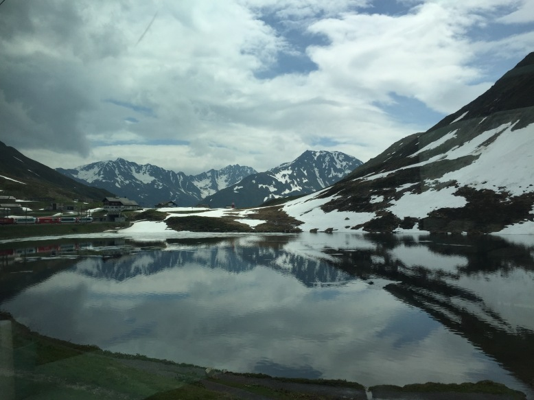 The view from the Glacier Express in Switzerland
