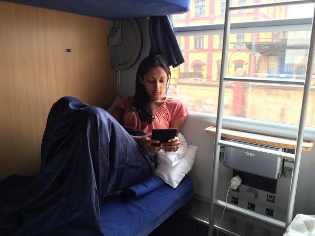 On the sleeper train to Prague