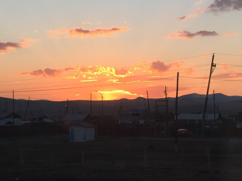 Sunset over Mongolia